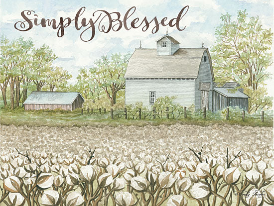 Cindy Jacobs CIN1147 - Simply Blessed Simply Blessed, Cotton, Farm, Barn, Crop from Penny Lane