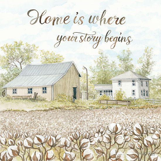 Cindy Jacobs CIN1148 - Home Is Where Your Story Begins Home, Story Begins, Cotton, Field, Barn, Farm from Penny Lane