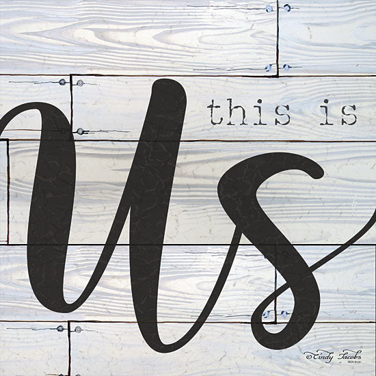 Cindy Jacobs CIN1157 - This is Us This is Us, Gray, Black, Calligraphy from Penny Lane