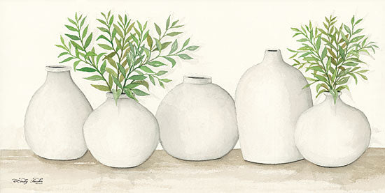 Cindy Jacobs CIN1159 - Simplicity in White I White Clay Pots, Greenery, Plants, Still Life from Penny Lane