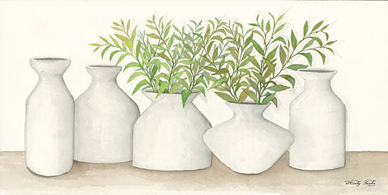 Cindy Jacobs CIN1160 - Simplicity in White II White Clay Pots, Greenery, Plants, Still Life from Penny Lane
