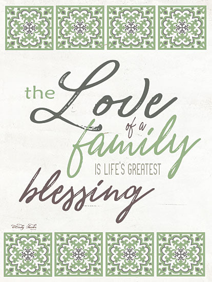 Cindy Jacobs CIN1179 - The Love of a Family Green and Black, Tiles, Love, Family, Blessings, Southwestern from Penny Lane