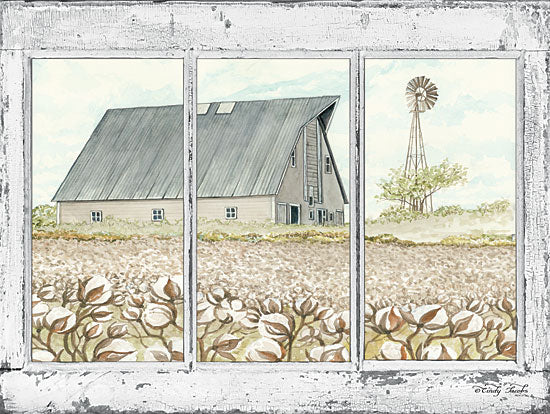 Cindy Jacobs CIN1196 - Farmland View Window, Barn, Cotton,  Fields, Windmill from Penny Lane