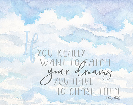 Cindy Jacobs CIN1199 - Chase Your Dreams Chase Your Dreams, Clouds, Blue & White, Inspiring from Penny Lane