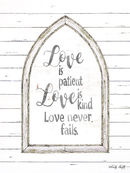 Cindy Jacobs CIN1223 - Love is Patient Arch Love is Patient, Love is Kind, Love Never Fails, Arch, Shiplap, Religious from Penny Lane
