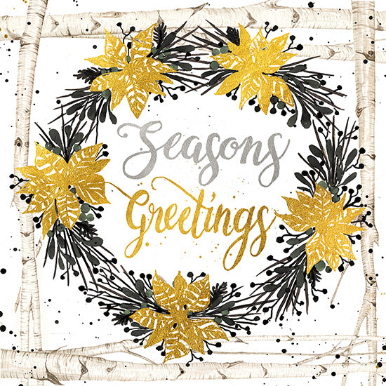 Cindy Jacobs CIN1239 - Seasons Greetings Birch Wreath Seasons Greetings, Holidays, Birch Trees, Wreath from Penny Lane