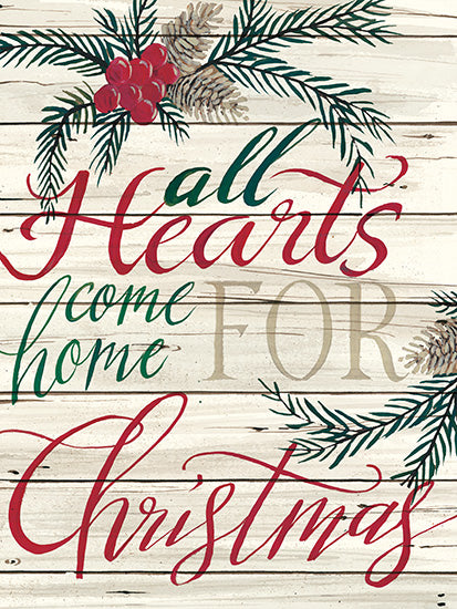 Cindy Jacobs CIN1246 - All Hearts Come Home for Christmas Shiplap All Hearts Come Home, Holly Berries, Pine Sprigs, Shiplap from Penny Lane