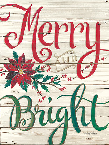 Cindy Jacobs CIN1247 - Merry & Bright Shiplap Merry & Bright, Shiplap, Poinsettia, Flowers, Holiday from Penny Lane