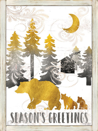 Cindy Jacobs CIN1266 - Season's Greetings Seasons Greetings, Bears, Mother and Baby, Trees, Pattern, Moon from Penny Lane