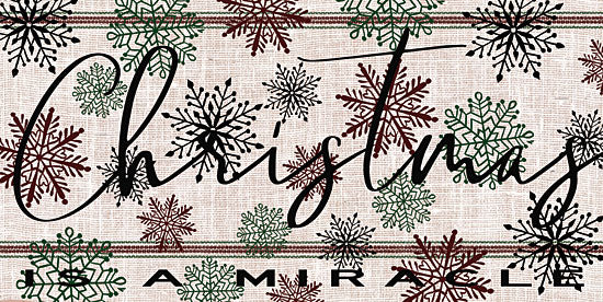 Cindy Jacobs CIN1292 - Christmas is a Miracle Christmas, Holidays, Miracle, Snowflakes, Grain Sack from Penny Lane