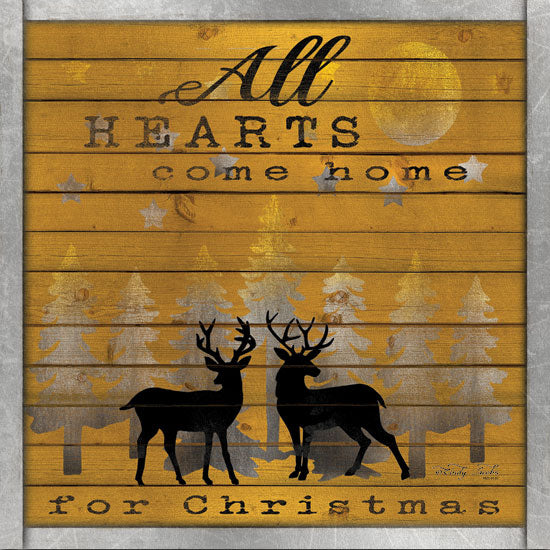 Cindy Jacobs CIN1300 - All Hearts Come Home for Christmas All Hearts Come Home, Holidays, Reindeer, Pine Trees, Silver and Gold from Penny Lane