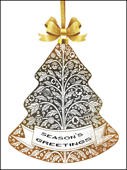 Cindy Jacobs CIN1304 - Season's Greetings Ornament Silver and Gold, Ornaments, Season's Greetings, Holidays from Penny Lane