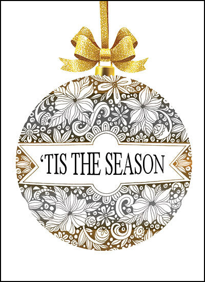 Cindy Jacobs CIN1306 - 'Tis the Season Ornament Silver and Gold, Ornaments, Holidays, Tis the Season from Penny Lane
