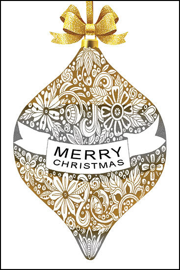 Cindy Jacobs CIN1307 - Merry Christmas Ornament Silver and Gold, Ornaments, Holidays, Merry Christmas from Penny Lane