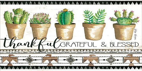 Cindy Jacobs CIN1317 - Native Thankful Grateful    Succulents, Cactus, Thankful, Grateful, Blessed,  Southwestern, Pots from Penny Lane