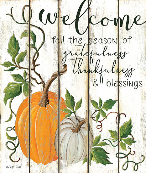 Cindy Jacobs CIN1333 - CIN1333 - Welcome Fall  - 12x16 Signs, Typography, Welcome, Fall, Pumpkins, Wood Planks from Penny Lane