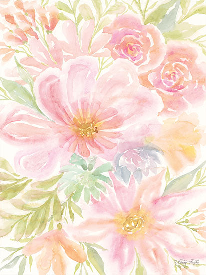 Cindy Jacobs CIN1355 - Mixed Floral Blooms I Flowers, Blooms, Botanical, Watercolor from Penny Lane
