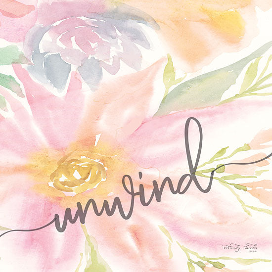 Cindy Jacobs CIN1360 - Floral Unwind Flowers, Blooms, Botanical, Watercolor, Unwind, Bathroom from Penny Lane