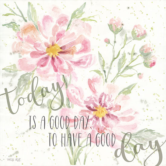 Cindy Jacobs CIN1370 - Floral Today is a Good Day Flowers, Blooms, Botanical, Watercolor, Good Day, Signs from Penny Lane