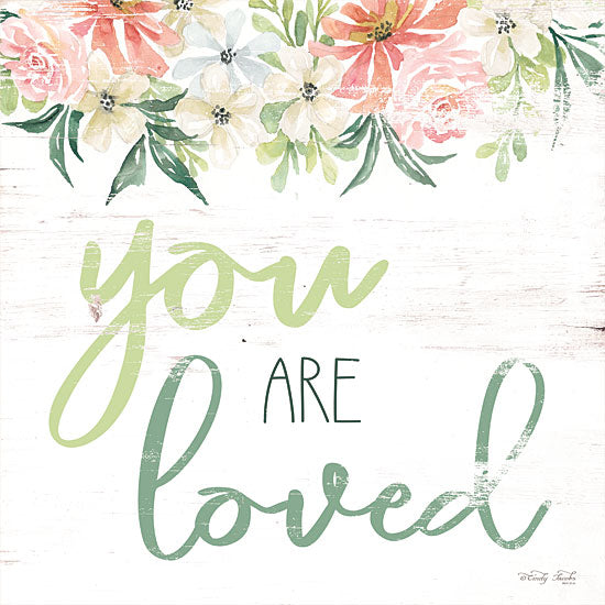 Cindy Jacobs CIN1378 - Floral You Are Loved You Are Loved, Flowers, Calligraphy, Signs from Penny Lane