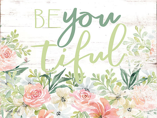 Cindy Jacobs CIN1380 - Floral Be You Tiful Beautiful, Be You, Flowers, Botanical, Calligraphy, Signs from Penny Lane