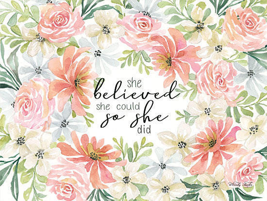 Cindy Jacobs CIN1382 - Floral She Believed She Believed, Flowers, Botanical, Calligraphy, Signs from Penny Lane