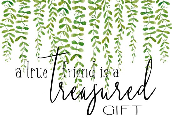 Cindy Jacobs CIN1388 - Treasured Gift Friend, Gift, Greenery, Calligraphy, Signs from Penny Lane
