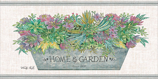 Cindy Jacobs CIN1396 - Home & Garden Flowers, Succulents, Galvanized Pot, Botanical, Home and Garden from Penny Lane