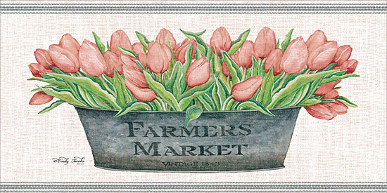 Cindy Jacobs CIN1398 - Farmer's Market Blush Tulips Flowers, Blush Tulips, Tulips, Galvanized Pot, Botanical, Farmer's Market from Penny Lane