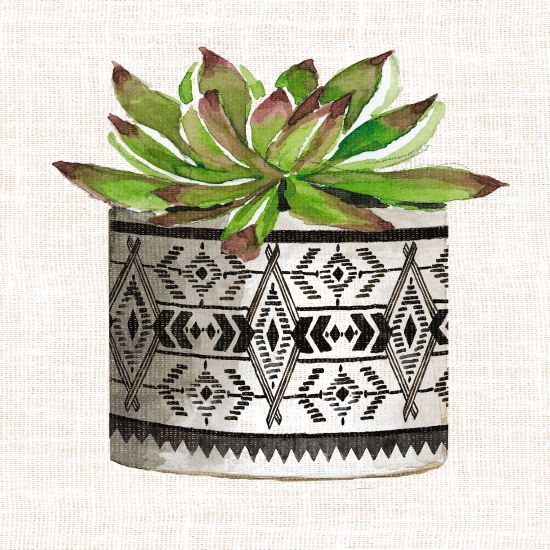 Cindy Jacobs CIN1404 - Cactus Mud Cloth Vase I Mud Cloth, Vase, Cactus, Southwestern from Penny Lane
