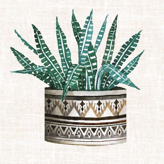 Cindy Jacobs CIN1406 - Cactus Mud Cloth Vase III Mud Cloth, Vase, Cactus, Southwestern from Penny Lane