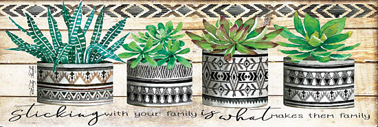 Cindy Jacobs CIN1408 - Sticking with Your Family Succulents, Cactus, Family, Southwestern, Pots, Mud Cloth from Penny Lane