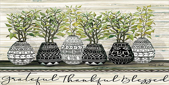 Cindy Jacobs CIN1411 - Grateful Mud Cloth Vase Mud Cloth, Vases, Cactus, Southwestern, Grateful, Thankful, Blessed from Penny Lane