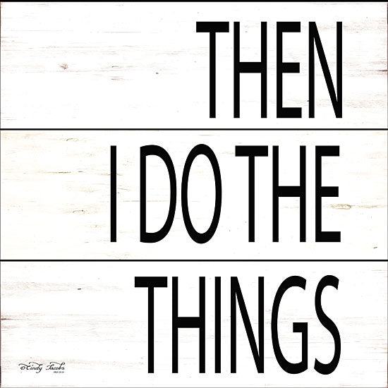 Cindy Jacobs CIN1425 - Then I Do Things Do Things, Signs, Black & White, Diptych from Penny Lane