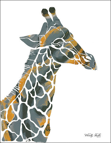 Cindy Jacobs CIN1456 - Bright Giraffe I - 12x16 Giraffe, Abstract from Penny Lane