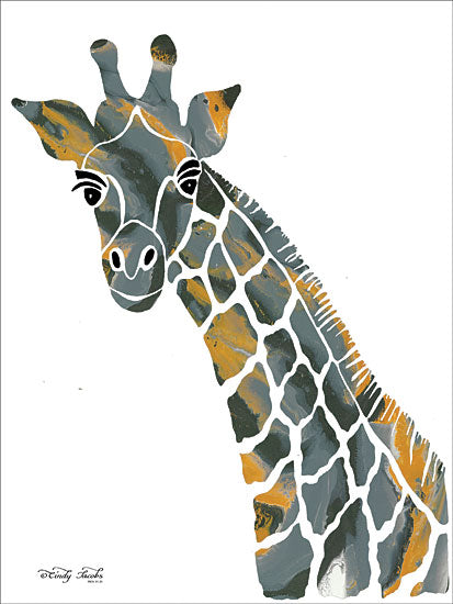 Cindy Jacobs CIN1457 - Bright Giraffe II - 12x16 Giraffe, Abstract from Penny Lane
