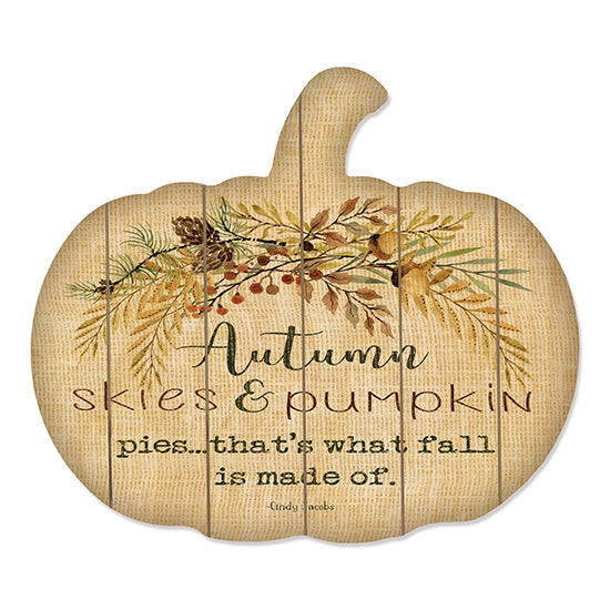 Cindy Jacobs CIN1458PUMP - Autumn Skies Autumn, Pumpkin, Leaves, Acorns, Harvest from Penny Lane