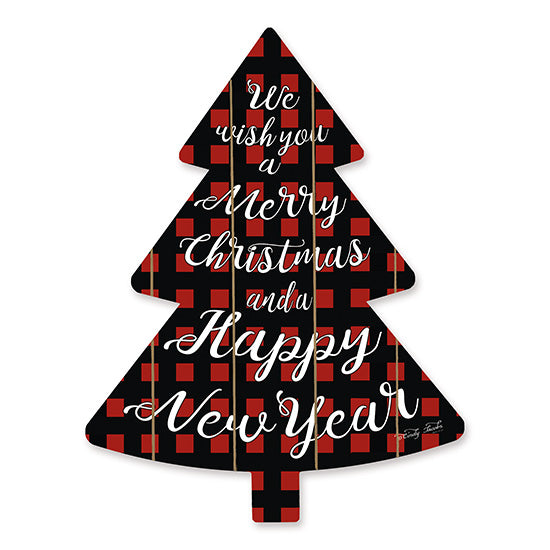 Cindy Jacobs CIN1476TREE - We Wish You    Holidays, Happy New Year, Buffalo Plaid, Calligraphy, Signs from Penny Lane