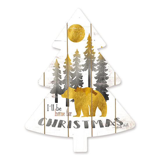 Cindy Jacobs CIN1477TREE - Gold Bears I'll Be Home   Holidays, Bears, I'll Be Home for Christmas, Christmas Trees, Moon, Gold from Penny Lane