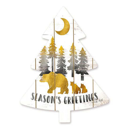 Cindy Jacobs CIN1478TREE - Gold Bears Season's Greetings   Holidays, Bears, Season's Greetings, Christmas Trees, Moon, Gold from Penny Lane