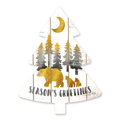 CIN1478TREE - Gold Bears Season's Greetings
