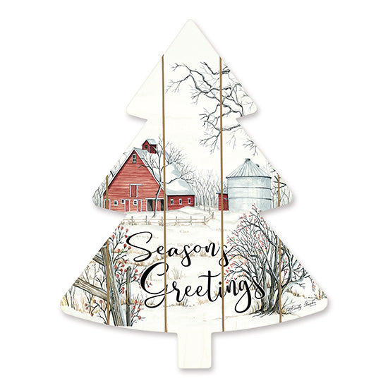 Cindy Jacobs CIN1481TREE - Barn Seasons Greetings   Holidays, Barn, Winter, Snow, Seasons Greetings, Christmas Trees from Penny Lane
