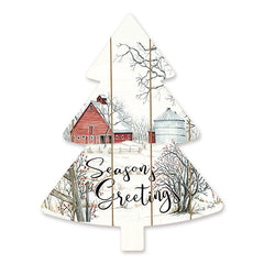 CIN1481TREE - Barn Seasons Greetings