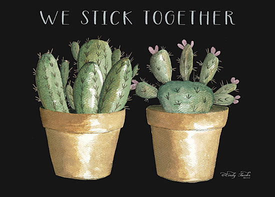 Cindy Jacobs CIN1535 - CIN1535 - We Stick Together Cactus    - 16x12 Signs, Typography, Humor, Cactus, Plants, Greenery from Penny Lane