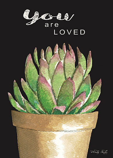 Cindy Jacobs CIN1536 - CIN1536 - You Are Loved Cactus      - 12x16 Signs, Typography, Cactus, Plant, Greenery from Penny Lane