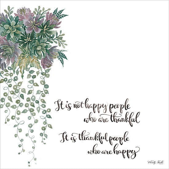 Cindy Jacobs CIN1611 - CIN1611 - Thankful People  - 12x12 Signs, Typography, Flowers, Greenery, Thankful People from Penny Lane