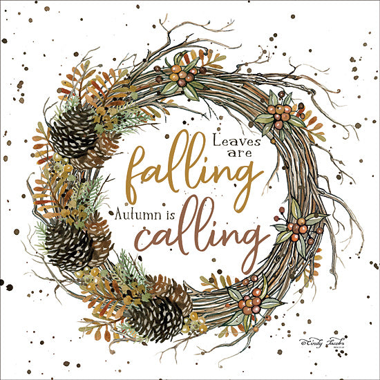 Cindy Jacobs CIN1674 - CIN1674 - Autumn in Calling Wreath - 12x12 Grapevine Wreath, Pinecones, Autumn, Wreath from Penny Lane