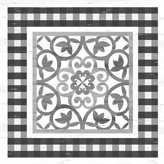 Cindy Jacobs CIN1675 - CIN1675 - Gray Tile - 12x12 Gray and White, Tiles, Patterns from Penny Lane