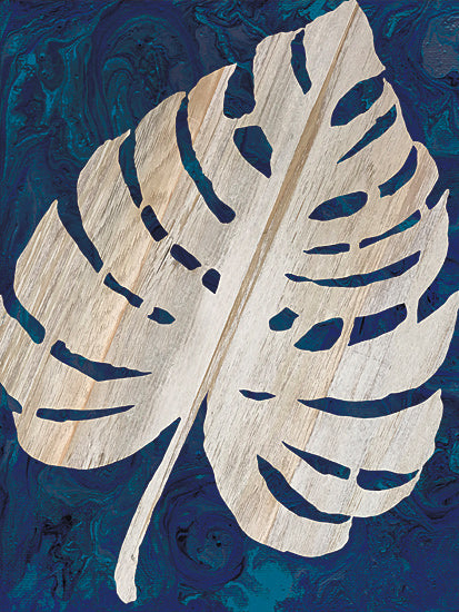 Cindy Jacobs CIN1676 - CIN1676 - Monstera Navy - 12x16 Monstera, Palm Leaf, Navy and Cream, Coastal from Penny Lane