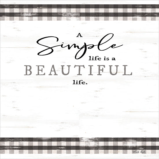 Cindy Jacobs CIN1682 - CIN1682 - Simple & Beautiful Life - 12x12 Simple & Beautiful Life, Black & White, Gingham, Motivational from Penny Lane